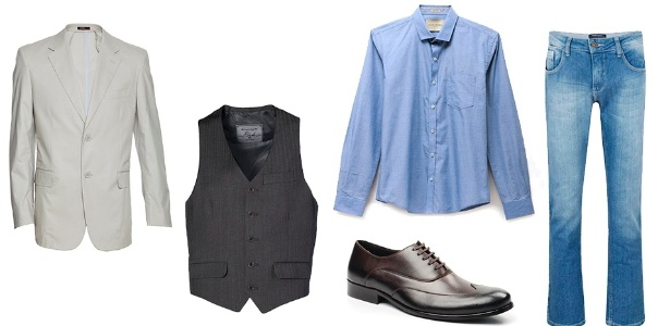 O colete originalmente faz parte do terno, mas ele pode ser usado com blazer, de forma não coordenada e com calça jeans - Divulgação