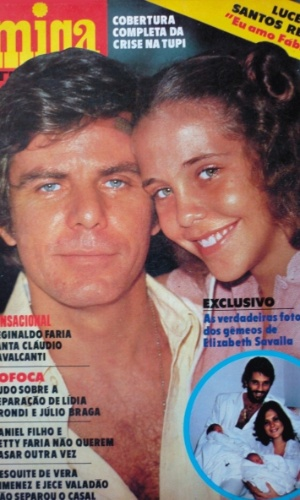 "1980 - Com Isabela Garcia na capa da revista ""Amiga"""