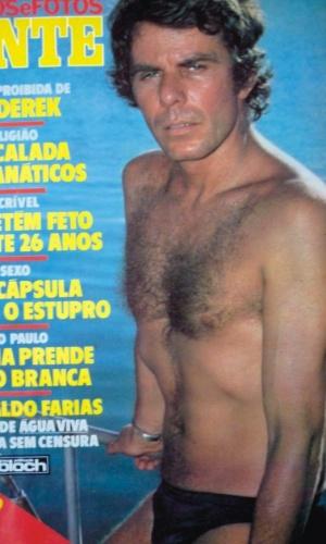 """1980 - O ator foi capa da revista """"Fatos e Fotos Gente"""" quando trabalhou na novela """"Água Viva"""""""