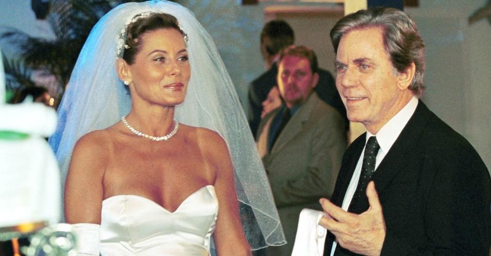 """2001 - Em cena com Vera Fischer em """"O Clone"""""""