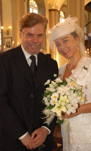 """2005 - Com Nívea Maria na novela """"América"""" quando viveu o personagem Adalberto"""