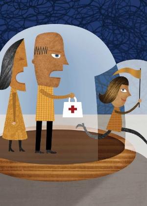 Quando os filhos saem de casa, a responsabilidade pela saúde deles muda - Joyce Hesselberth/The New York Times
