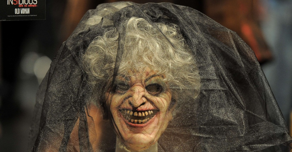 """27.ago.2013 - Máscara de bruxa usada em """"Sobrenatural"""", filme de James Wan (""""Jogos Mortais"""")"""