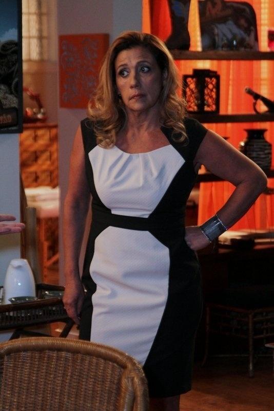 28.ago.2013 - Rita Cadillac gravou participação nesta quarta na novela