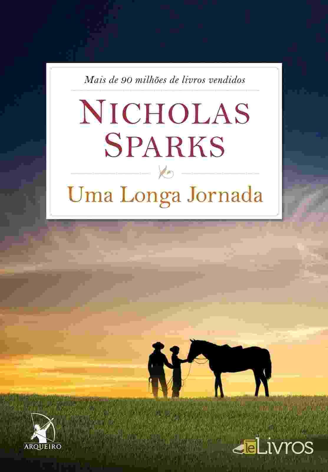 """Capa do livro """"Uma Longa Jornada"""", de Nicholas Sparks - Divulgação"""