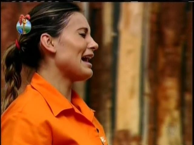 28.ago.2013 - Andressa Urach se emociona ao vencer a Prova da Chave