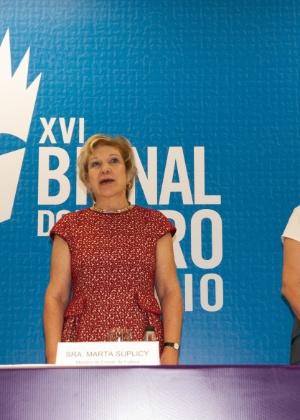 A ministra da Cultura, Marta Suplicy, na abertura da 16ª Bienal do Livro do Rio de Janeiro  - ERBS JR./FRAME/ESTADÃO CONTEÚDO