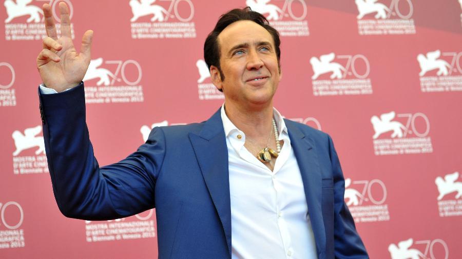 Nicolas Cage marca presença no Festival de Veneza, em 2013 - Tiziana Fabi/AFP