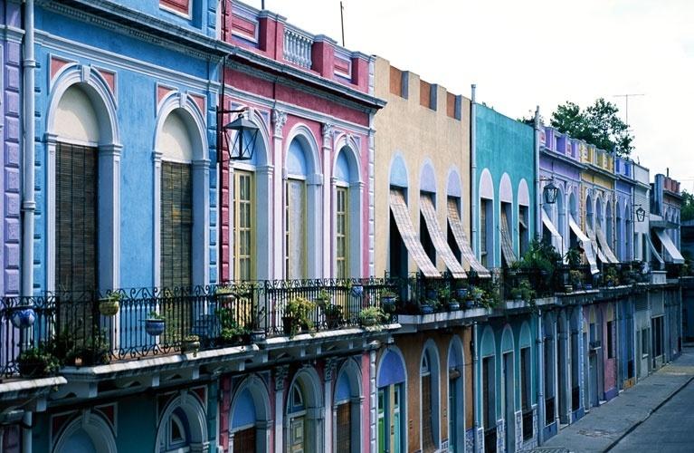 Casas coloridas do bairro Reus, em Montevidéu