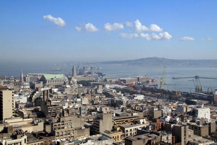 Vista aérea de Montevidéu, capital do Uruguai