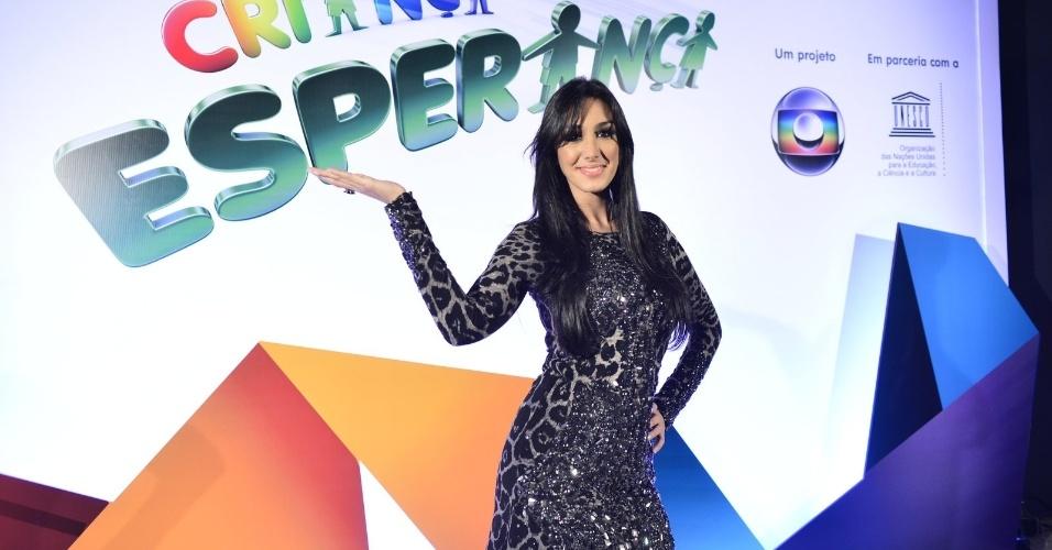 31.ago.2013 - A cantora Marina Elali chega para o show do Criança Esperança 2013 no no Citibank Hall, na Barra da Tijuca, no Rio de Janeiro