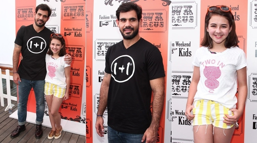 """31.ago.2013 - Juliano Cazarré e Klara Castanho prestigiaram um evento de moda em São Paulo. Os atores que em """"Amor à Vida"""" vivem pai e filha, respectivamente,  posaram juntos"""