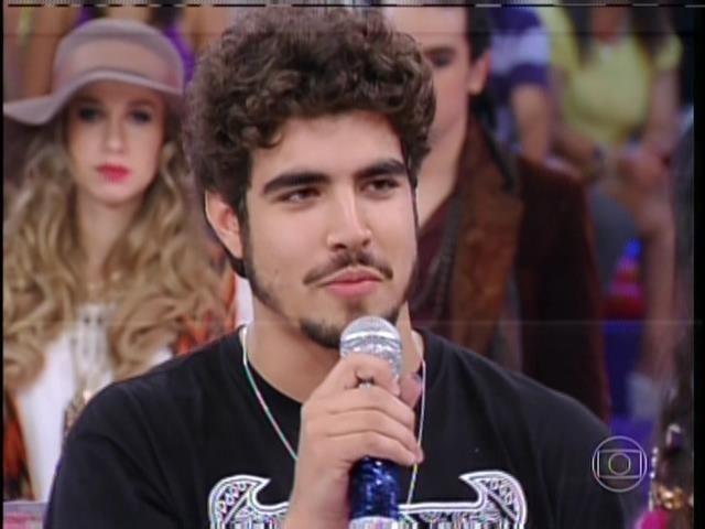 1.set.2013 - Caio Castro participou do programa