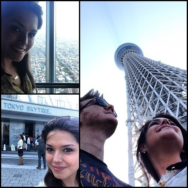 """1.set.2013 - Michel Teló e Thaís Fersoza curtiram viagem ao Japão. A atriz divulgou imagens do casal visitando pontos turísticos e elogiou a apresentação do amado no """"Brazilian Day"""". """"Muito orgulho dele, foi lindo"""", escreveu"""