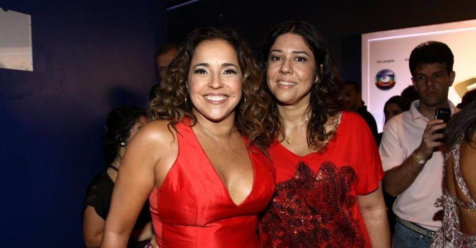 """31.ago.2013 - Daniela Mercury e sua companheira, Malu Verçosa, nos bastidores do """"Criança Esperança"""""""
