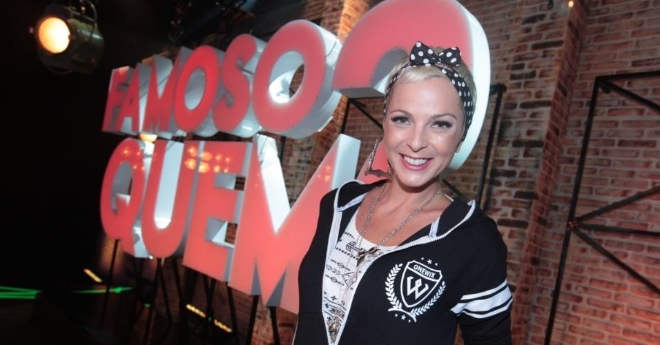 """2.set.2013 - Bruna Tag participou do lançamento do reality show """"Famoso Quem?"""" nesta segunda nos estúdios do SBT, em São Paulo. A atração estreia no dia 14 de setembro"""