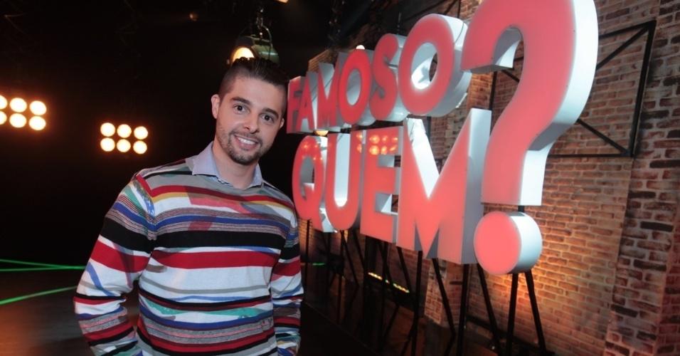 """2.set.2013 - Diego Ramiro participou do lançamento do reality show """"Famoso Quem?"""" nesta segunda nos estúdios do SBT, em São Paulo. A atração estreia no dia 14 de setembro"""