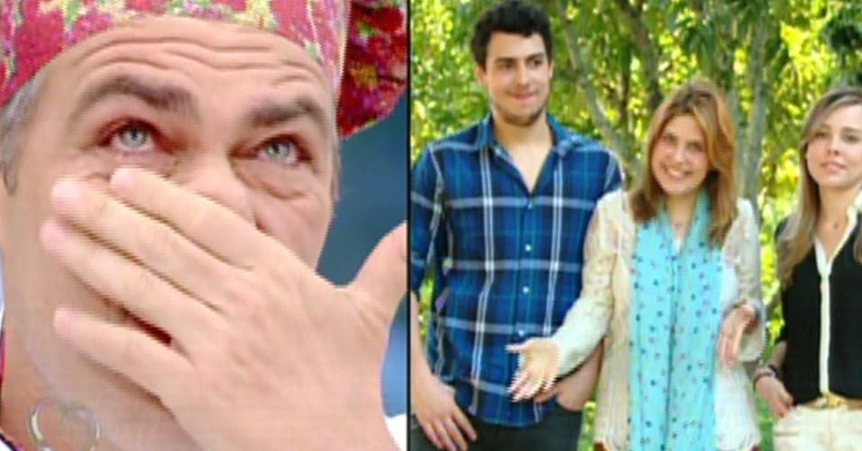 """2.set.2013 - Na final do """"Super Chef Celebridades"""" 2013, Anderson Muller se emociona com recado de seus três filhos"""