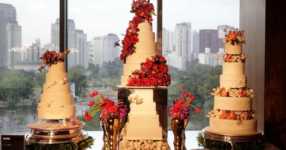 2.set.2013 - Mesa da doceria The King Cake. O Bride Style 2013 aconteceu no shopping JK Iguatemi, na zona oeste da capital paulista