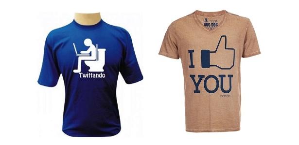 """Camisetas """"engraçadinhas"""" estão na moda mas devem ser usadas com cautela e apenas em ambientes muito informais - Divulgação"""