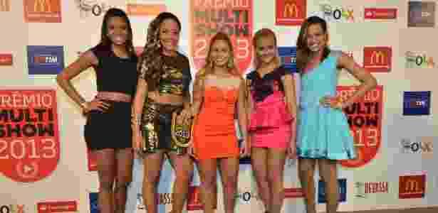 3.set.2013 - As integrantes do Bonde das Maravilhas concorrem ao Prêmio Multishow 2013 de novo hit chegam para a premiação - AgNews