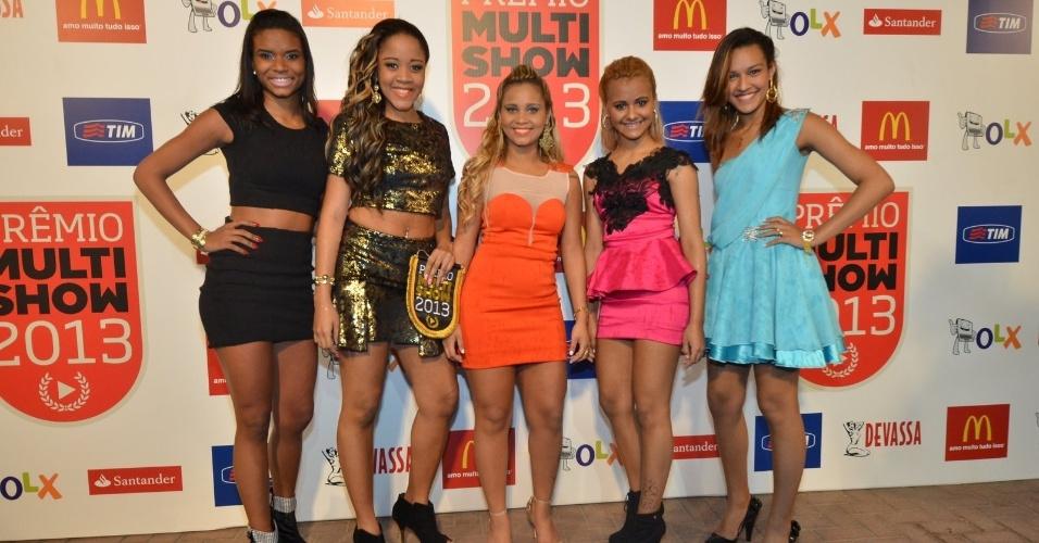 3.set.2013 - As integrantes do Bonde das Maravilhas concorrem ao Prêmio Multishow 2013 de novo hit chegam para a premiação