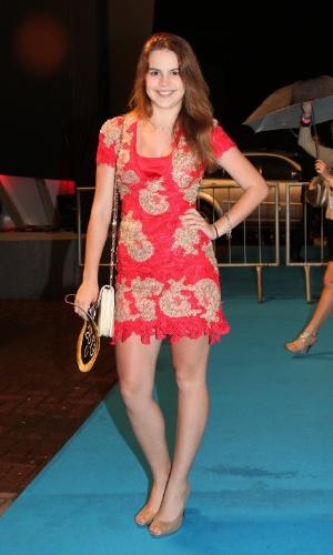 3.set.2013 - Bianca Salgueiro também prestigiou a entrega dos Prêmios Multishow 2013