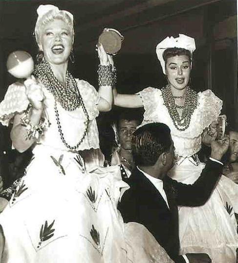 Ginger Rogers e Elaine Stewart no Copacabana Palace
