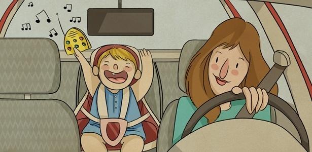 """Hoje, nem mais rádio eu tenho no carro. Pois há uma trilha irritante chamada pelo meu filho de """"Bia, Bia"""""""