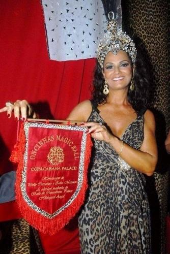 Luiza Brunet foi rainha do Carnaval do baile do Copacabana Palace