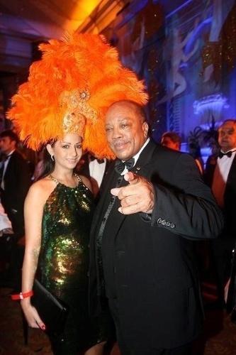 O produtor musical Quincy Jones