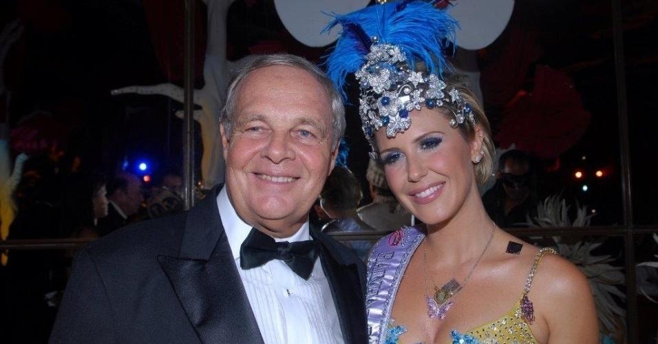 Philip Carruthers posa com a atriz Guilhermina Guinle