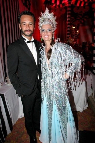 Rodrigo Santoro e Andrea Dellal no baile do Copa