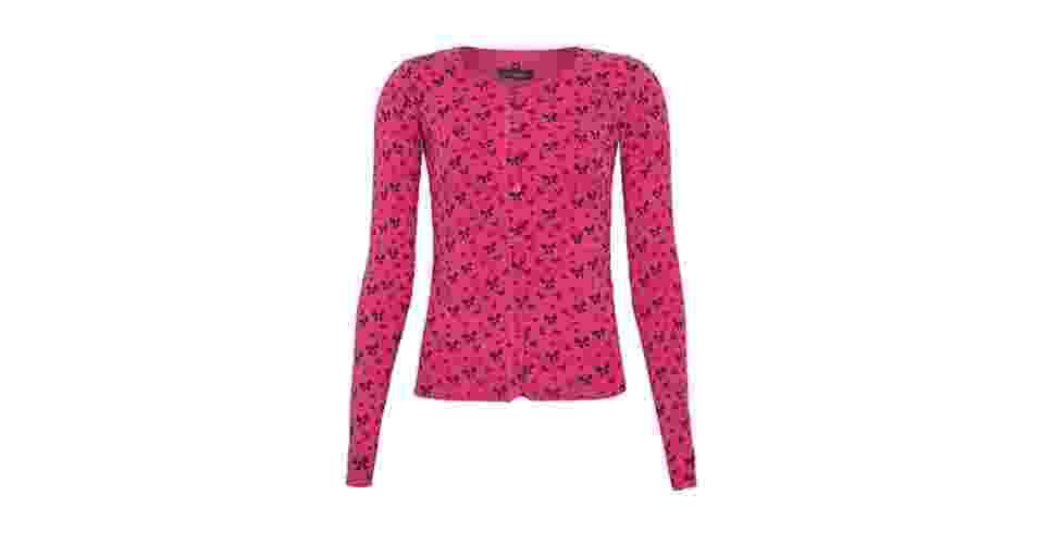 Suéter rosa com estampa de lacinhos; R$ 159,90, na FiveBlu (www.fiveblu.com/br). Preço pesquisado em setembro de 2013 e sujeito a alterações - Divulgação