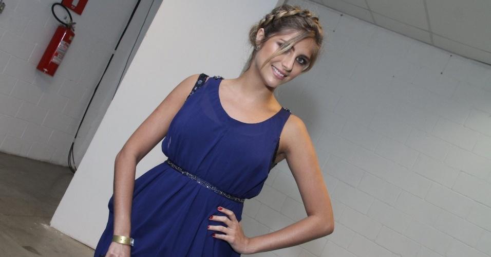 3.set.2013 - A atriz Tammy Di Calafiori faz pose antes de entrar na festa do Prêmio Multishow 2013 no HSBC Arena na Barra da Tijuca, Rio de Janeiro