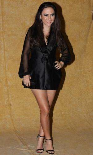 3.set.2013 - A atriz Tatá Werneck chega na festa do Prêmio Multishow 2013 no HSBC Arena na Barra da Tijuca, Rio de Janeiro