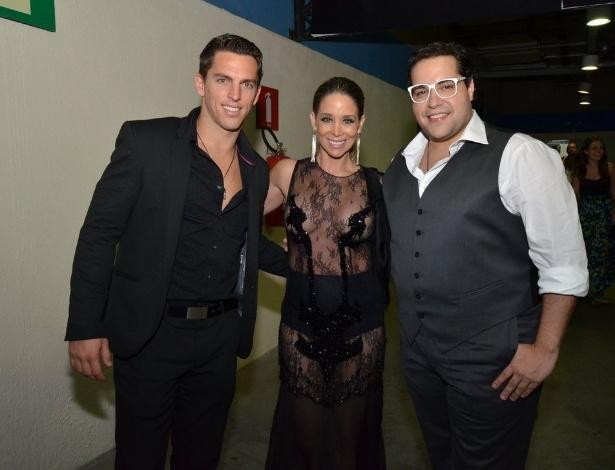3.set.2013 - Danielle Winits, Amauri Nunes e Tiago Abravanel na festa do Prêmio Multishow 2013 no HSBC Arena na Barra da Tijuca, Rio de Janeiro