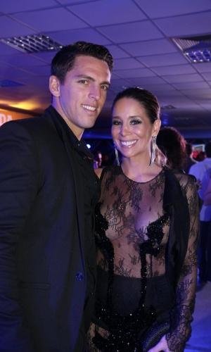 3.set.2013 - Danielle Winits e Amauri Nunes na festa do Prêmio Multishow 2013 no HSBC Arena na Barra da Tijuca, Rio de Janeiro