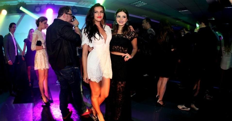 3.set.2013 - Mariana Rios e Giovanna Lancellotti na festa do Prêmio Multishow 2013 no HSBC Arena na Barra da Tijuca, Rio de Janeiro