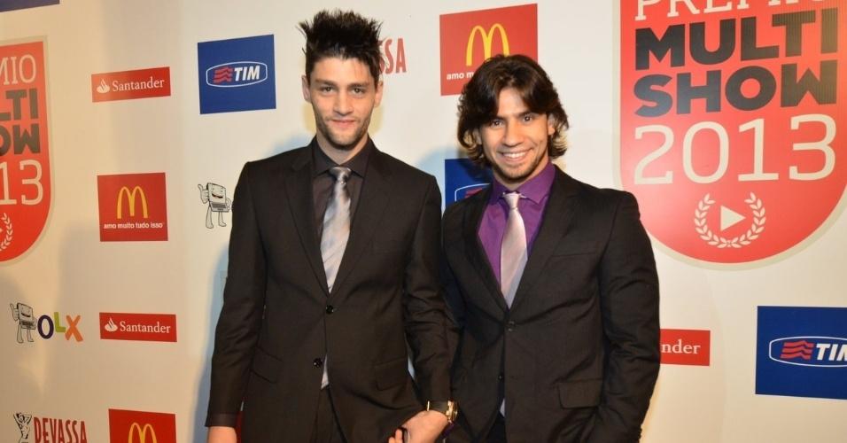 3.set.2013 - Munhoz e Mariano na festa do Prêmio Multishow 2013 no HSBC Arena na Barra da Tijuca, Rio de Janeiro
