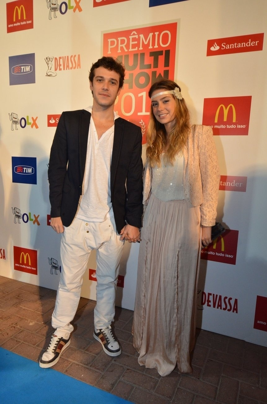 3.set.2013 - O ator Jayme Matarazzo levou a namorada ao Prêmio Multishow 2013