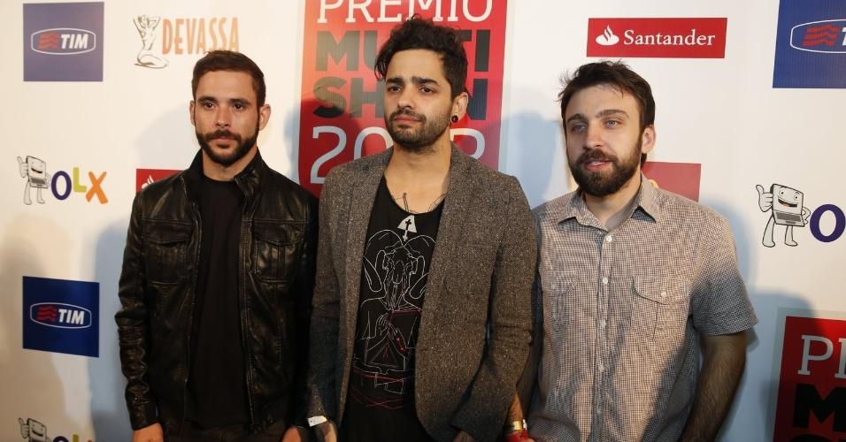 3.set.2013 - Os integrantes da banda Fresno estava entre os convidados do Prêmio Multishow 2013, no Rio de Janeiro
