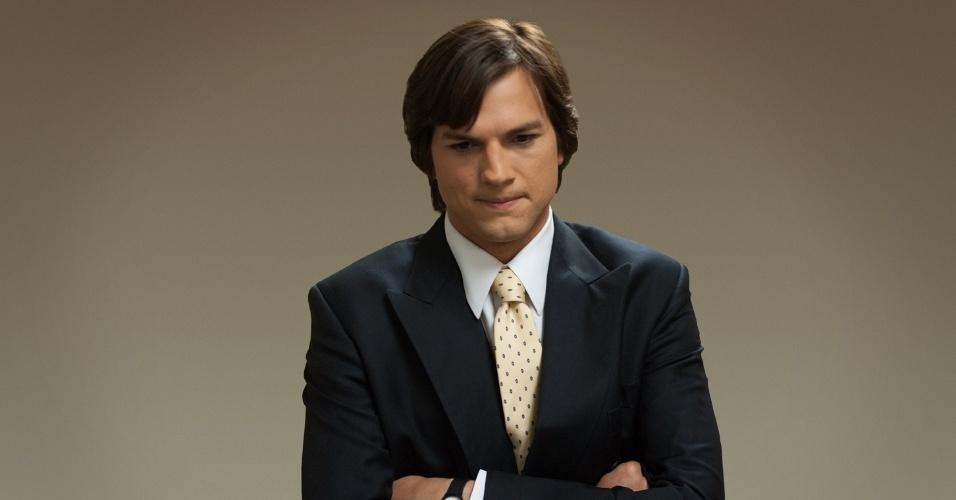"Cena da cinebiografia ""Jobs"", estrelada por Ashton Kutcher"