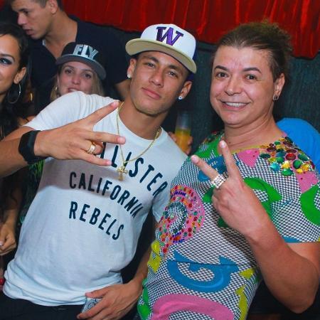 Neymar e o promoter David Brazil  - Raphael Mesquita/Divulgação