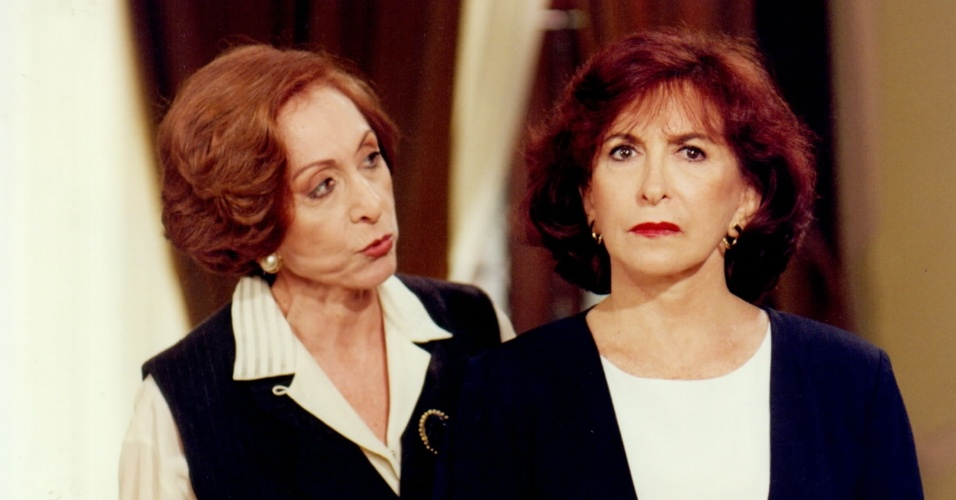 "6.set.2013 - Aracy Balabanian e Tereza Rachel como as irmãs Filomena e Francesca Ferreto na novela ""A Próxima Vítima"""