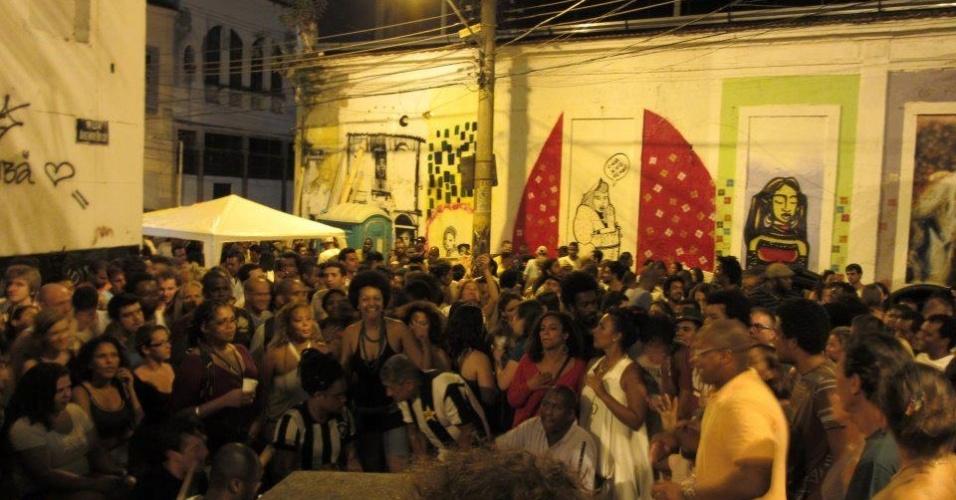 A tradicional Roda de Samba da Pedra do Sal no Rio de Janeiro