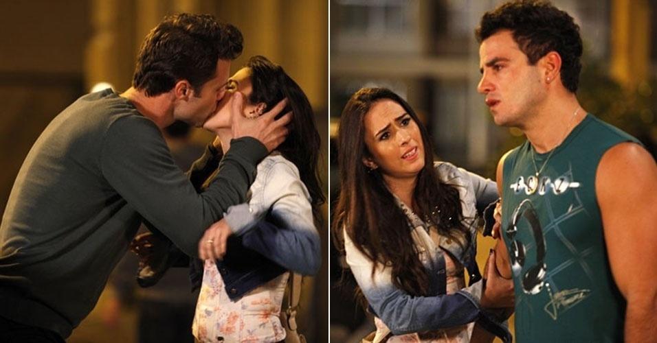 """7.set.2013 - """"Em """"Amor à Vida"""", Carlito vê Valdirene beijando outro homem e termina namoro"""