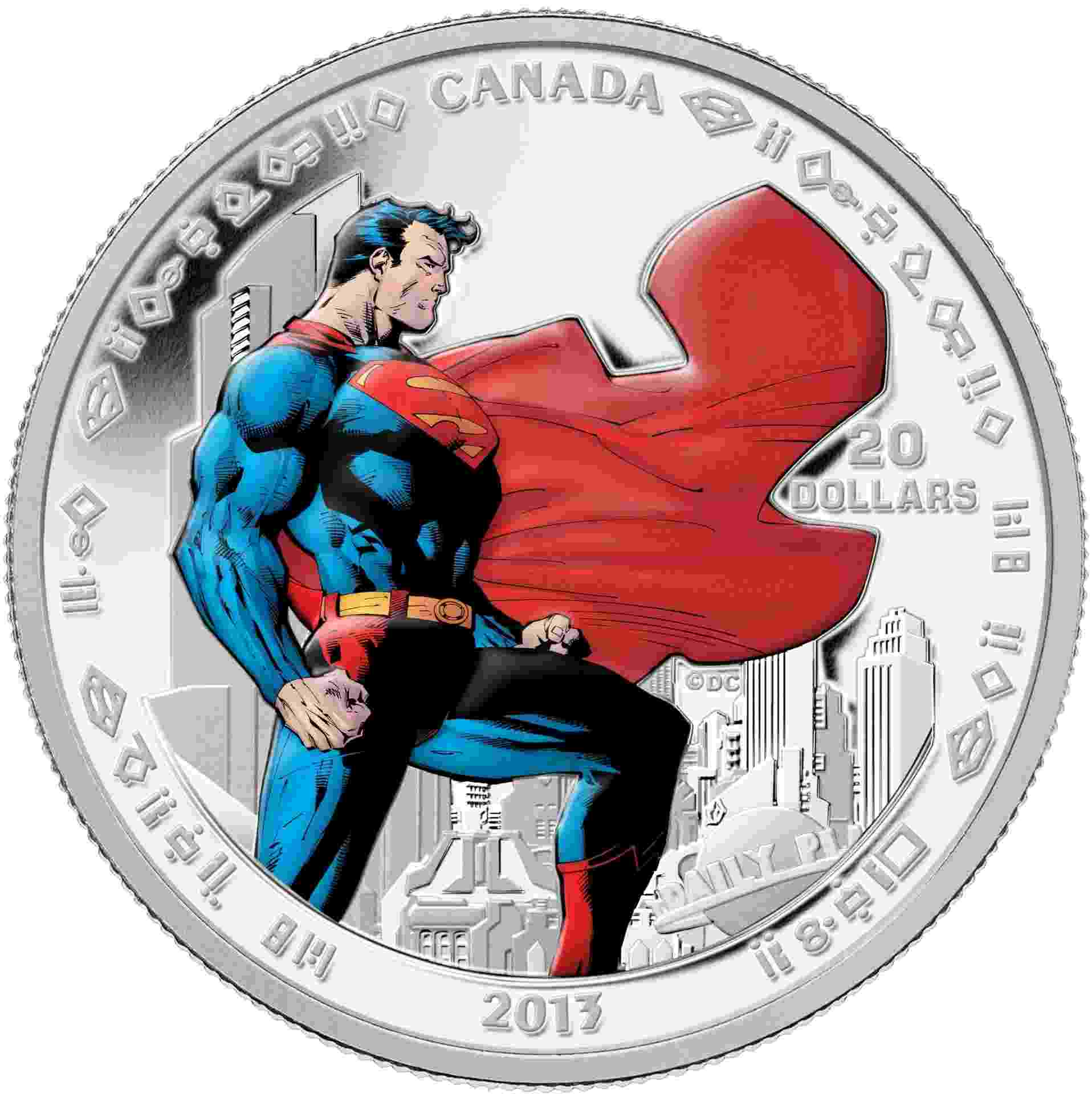 Casa da Moeda do Canadá lança moedas para comemorar o 75º aniversário do Superman - Casa da Moeda/AFP