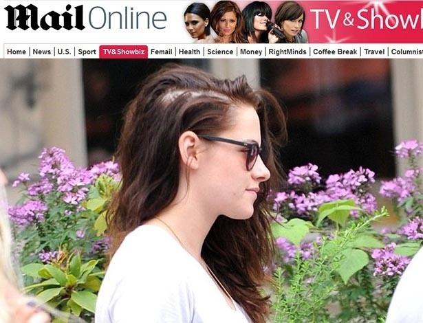 Kristen Stewart é flagrada com grande falha nos cabelos