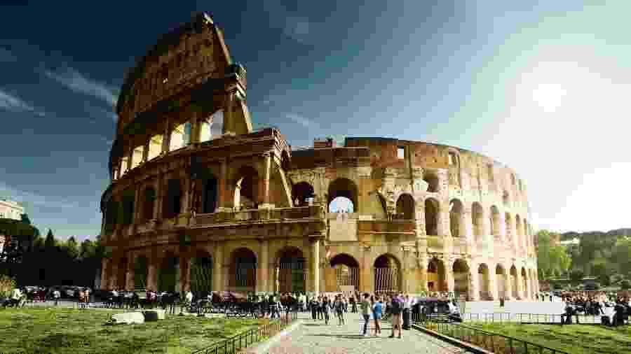 O Coliseu, em Roma, é um dos monumentos mais visitados da Itália - Thinkstock